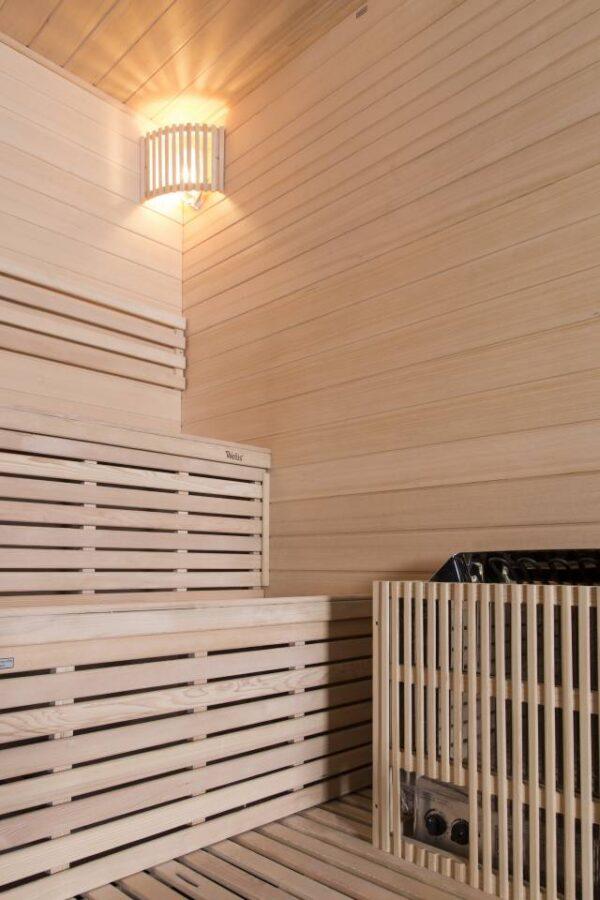 stufa e panca sauna